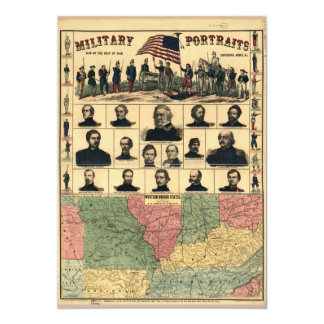 Western Boarder States Military Portraits (1861) Card
