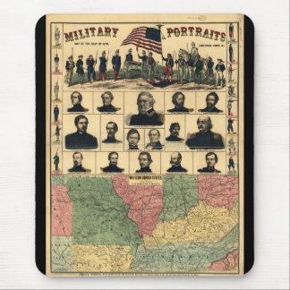 Western Boarder States Military Portraits (1861) Mouse Pad