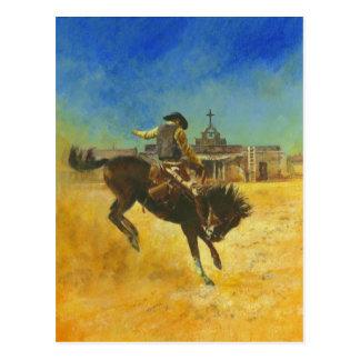 Western Book Cover illustration  Postcard