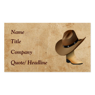 Western Boot and Hat Double-Sided Standard Business Cards (Pack Of 100)