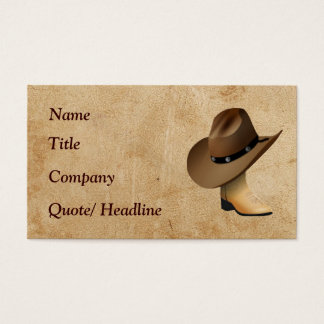 Western Boot and Hat Business Card
