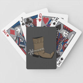 Western Boot Bicycle Playing Cards