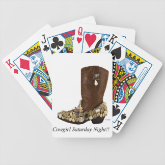 Western Boot Cowgirl Saturday Night Dance Bicycle Playing Cards