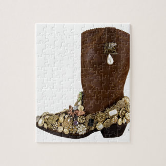 Western Boot Cowgirl Saturday Night Dance Puzzle