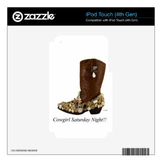 Western Boot Cowgirl Saturday Night Dance iPod Touch 4G Skin