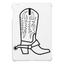Western Boot Outline Case For The iPad Mini