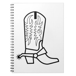 Western Boot Outline Notebook