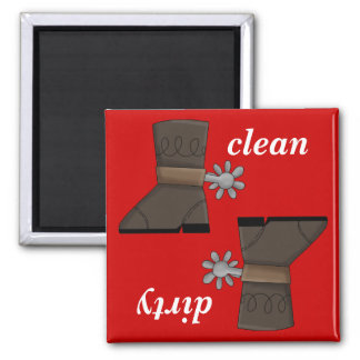 Western Boots and Spurs Dishwasher Magnet
