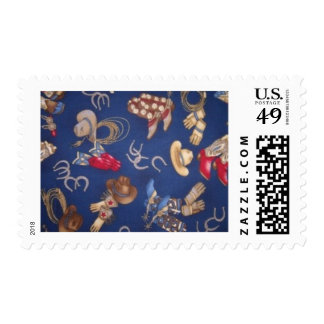 Western Boots & Hats postage stamps