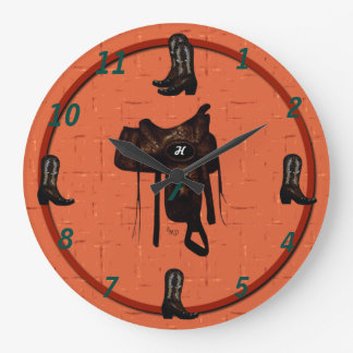 Western Boots & Saddle Clock 2
