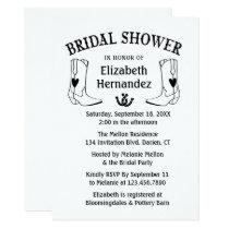 Western Bridal Shower Cowboy Boots Country Wedding Invitation