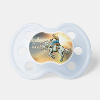 Western Bronc Rider Rodeo Star Baby Pacifier