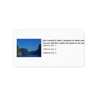 Western Brook Pond, Gros Morne National Park Label