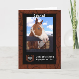 Western Brown and Black Mother's Day Photo Card