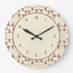 Western Bull Skull Beige Brown Country Rustic Large Clock