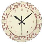 Western Bull Skull Beige Brown Country Rustic Large Clock