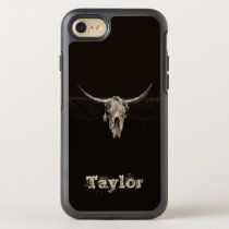 Western Bull Skull Country Cowboy Rustic Vintage OtterBox Symmetry iPhone SE/8/7 Case