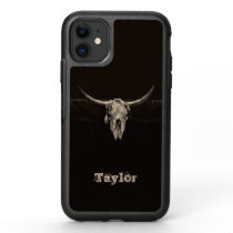 Western Bull Skull Country Cowboy Rustic Vintage OtterBox Symmetry iPhone 11 Case