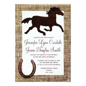 Western Burlap Cowboy Horse Horseshoe Wedding 5