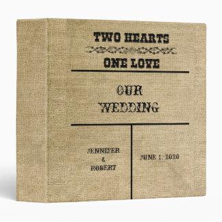 Western Burlap Wedding Album 3 Ring Binders