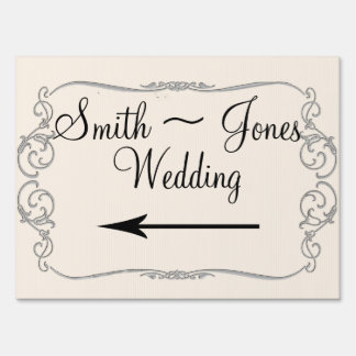 Western Calla Lily Posh Wedding Direction Sign