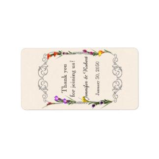 Western Calla Lily Wedding Lip Balm Label
