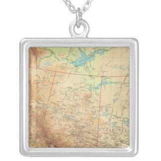 Western Canada Square Pendant Necklace