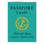 Western Caribbean Cruise Passport Wedding Card