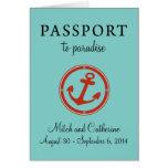 Western Caribbean Cruise Passport Wedding Greeting Card