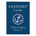 Western Caribbean Cruise Passport Wedding Cards