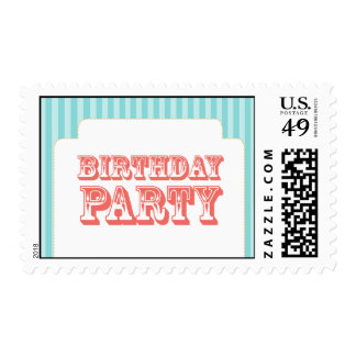 Western Carnival - Birthday Party - BC BP Postage Stamps