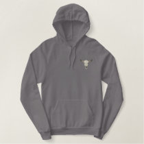 Western Cattle Skull Embroidered Hoodie