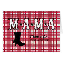 Western Checkered Themed Thank You Card