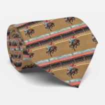 Western Cheyenne Rodeo Cowboy Bronc Rider Necktie