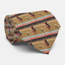 Western Cheyenne Rodeo Cowboy Team Roping Necktie