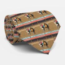 Western Cheyenne Rodeo Steer Wrestling Necktie
