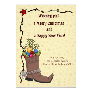 Western Christmas Card Personalized Announcements