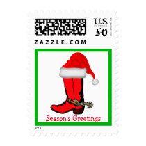 Western Christmas Cowboy Boot Postage