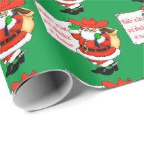 Western Christmas Cowboy Santa Makin' A List Wrapping Paper