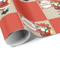 Western Christmas Cowboy Santa Wrapping Paper