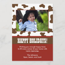 Western Christmas Holiday Card