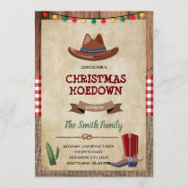 Western christmas party invitation