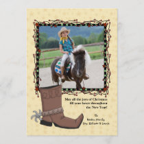 Western Christmas Photo Holiday Card