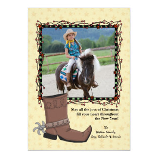 Western Christmas Photo Holiday Card