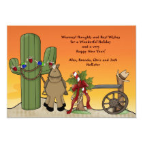 Western Christmas Scene Holiday Card