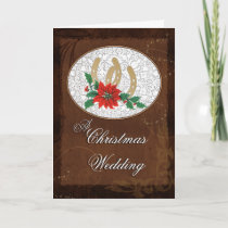 Western Christmas Wedding Invitation