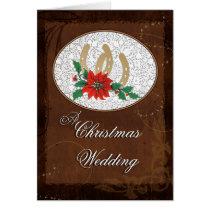 Western Christmas Wedding Invitation