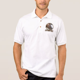 Western circle rope photo frame design polo shirt