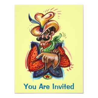 Western Colorful Fun Cowboy Party Invitations
