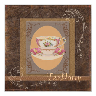 western Country Bridal Shower Tea Party Invitation